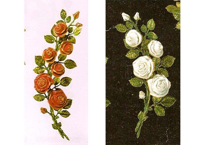 Decorazioni floreali lapidi