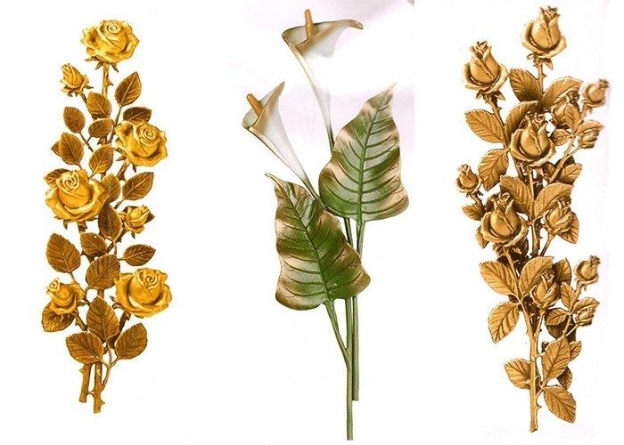 Decorazioni floreali cippi