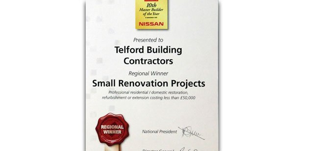 Regional winner for small renovation projects