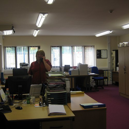 The new doctors surgery - inside the reception office