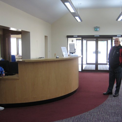The inside or the new medical centre