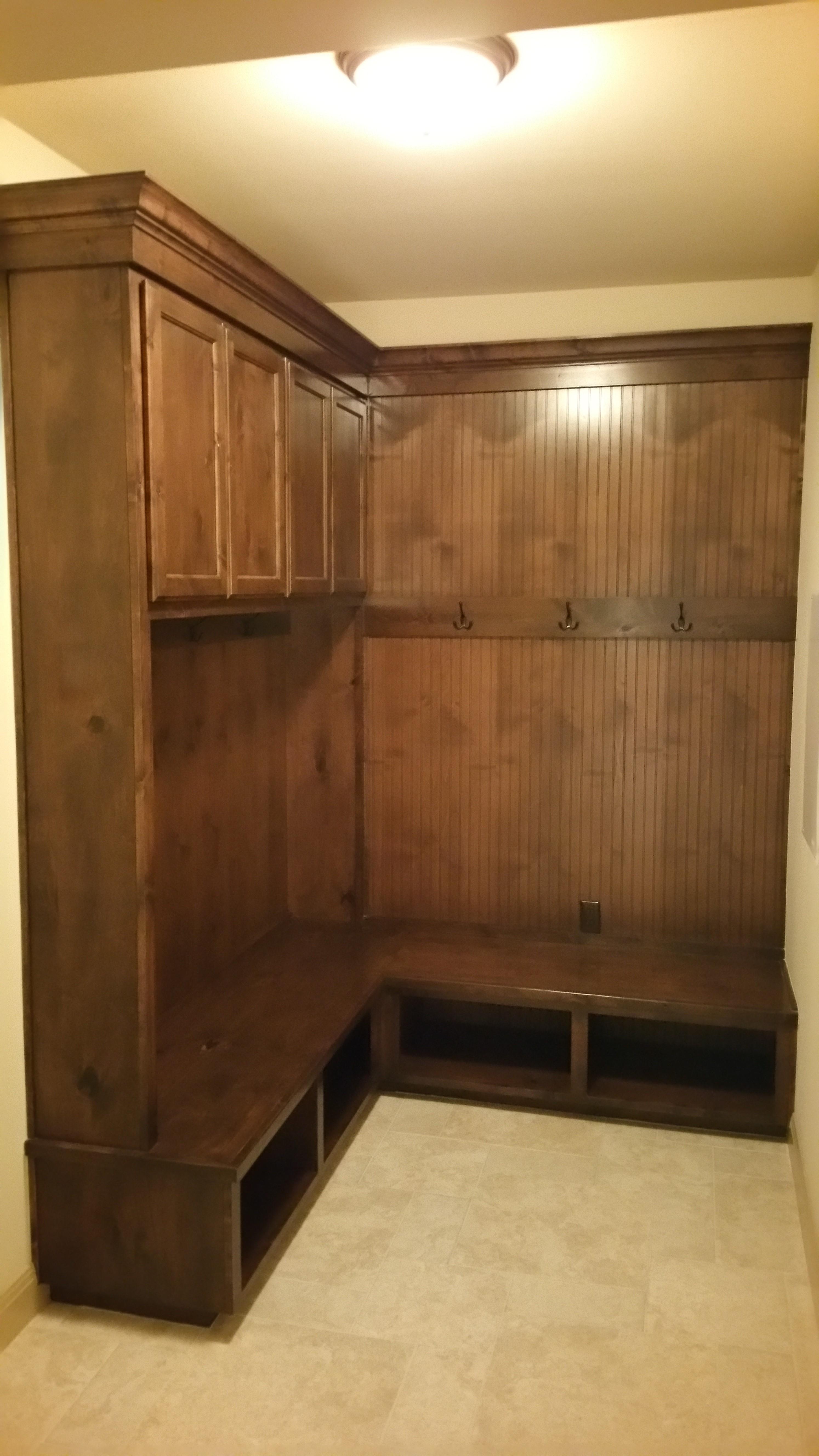 white dining room cabinet custom made by JB Murphy company