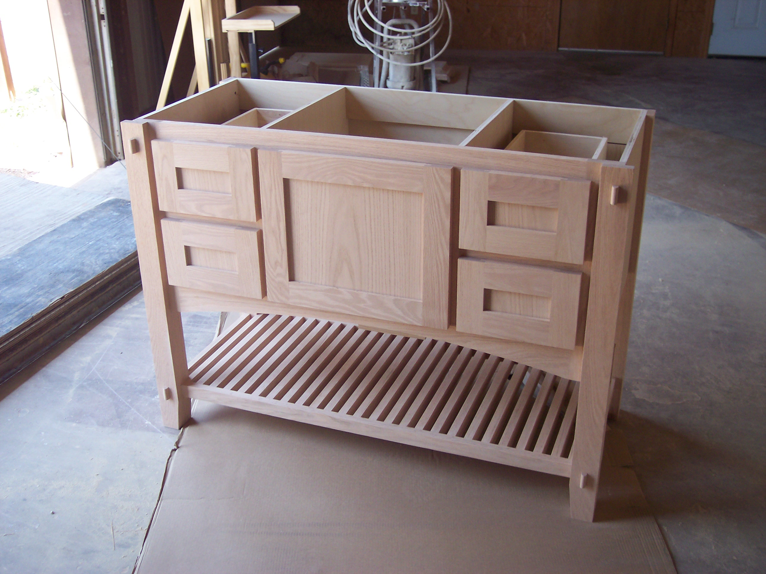 cabinet for shoes and purses custom by JB Murphy co
