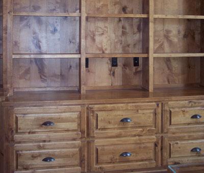 custom bookshelves by JB Murphy Co., custom cabinet makers