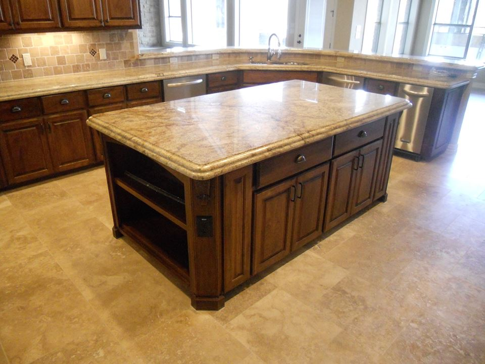 wrap around kitchen open concepts custom cabinets by JM Murphy Co.