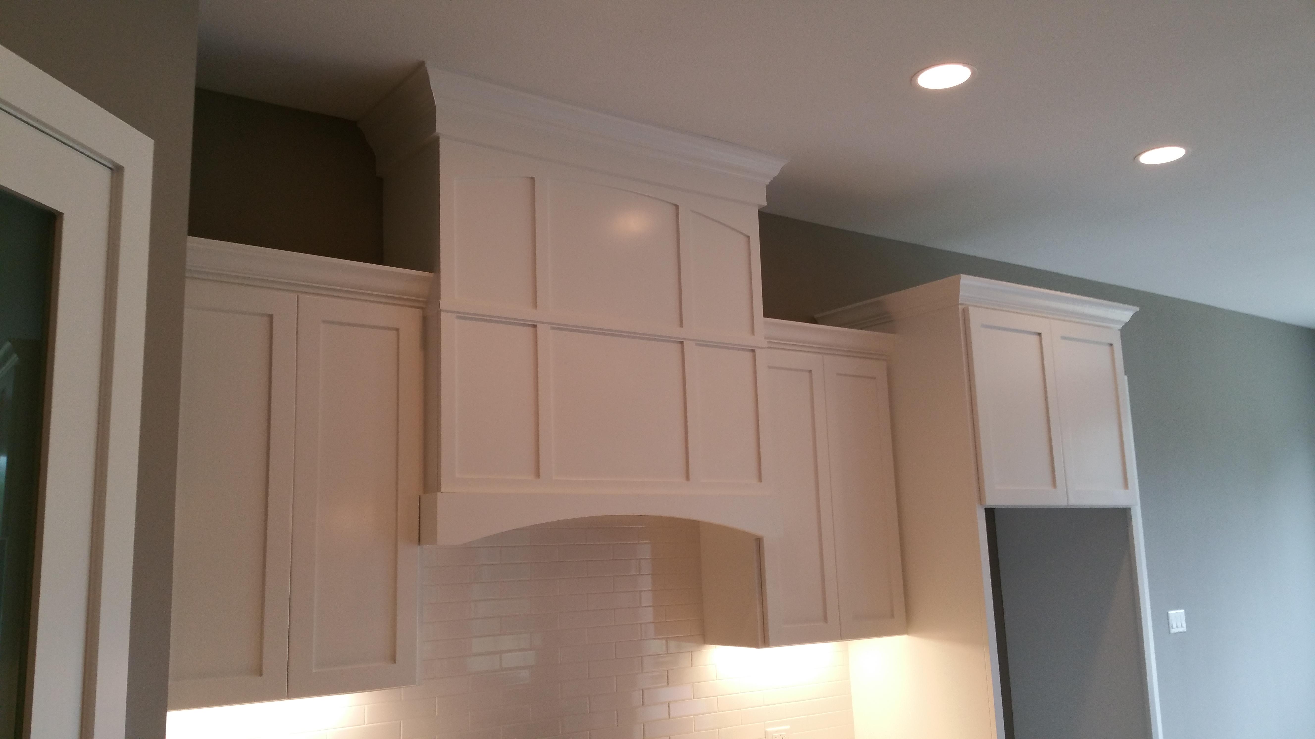 custom kitchen cabinet stove hood by jb murphy custom cabinet maker - Kitchen View Custom Cabinets