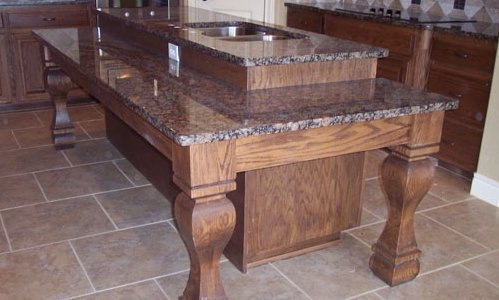 Charmant Custom Kitchen Island With Sink In Middle Designed And Installed By JB  Murphy Custom Cabinet Makers