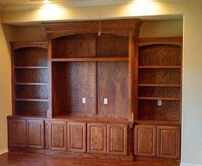floor to ceiling custom entertainment center by JN Murphy custom cabinet builders