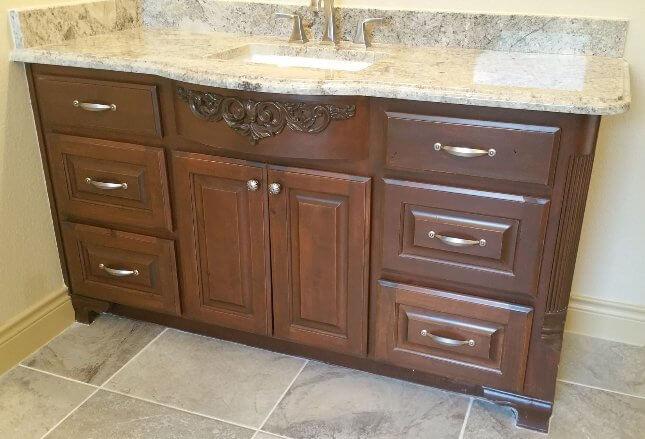 bathroom cabinet handmade by JB Murphy cabinet makers