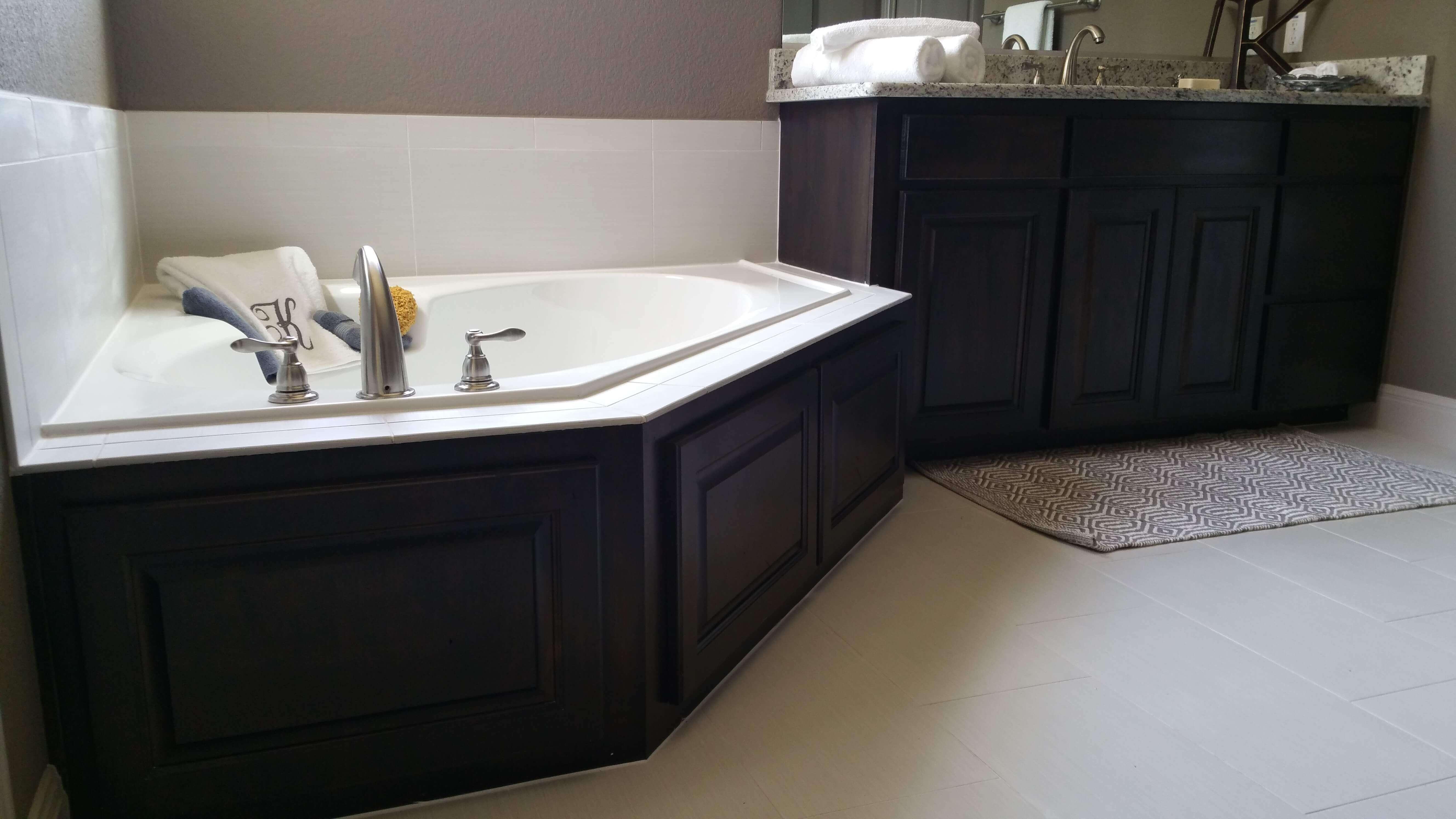contemporary bathroom cabinet design by JB Murphy Company custom cabinet builder