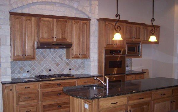 hickory wood custom cabinets by JB Murphy Company