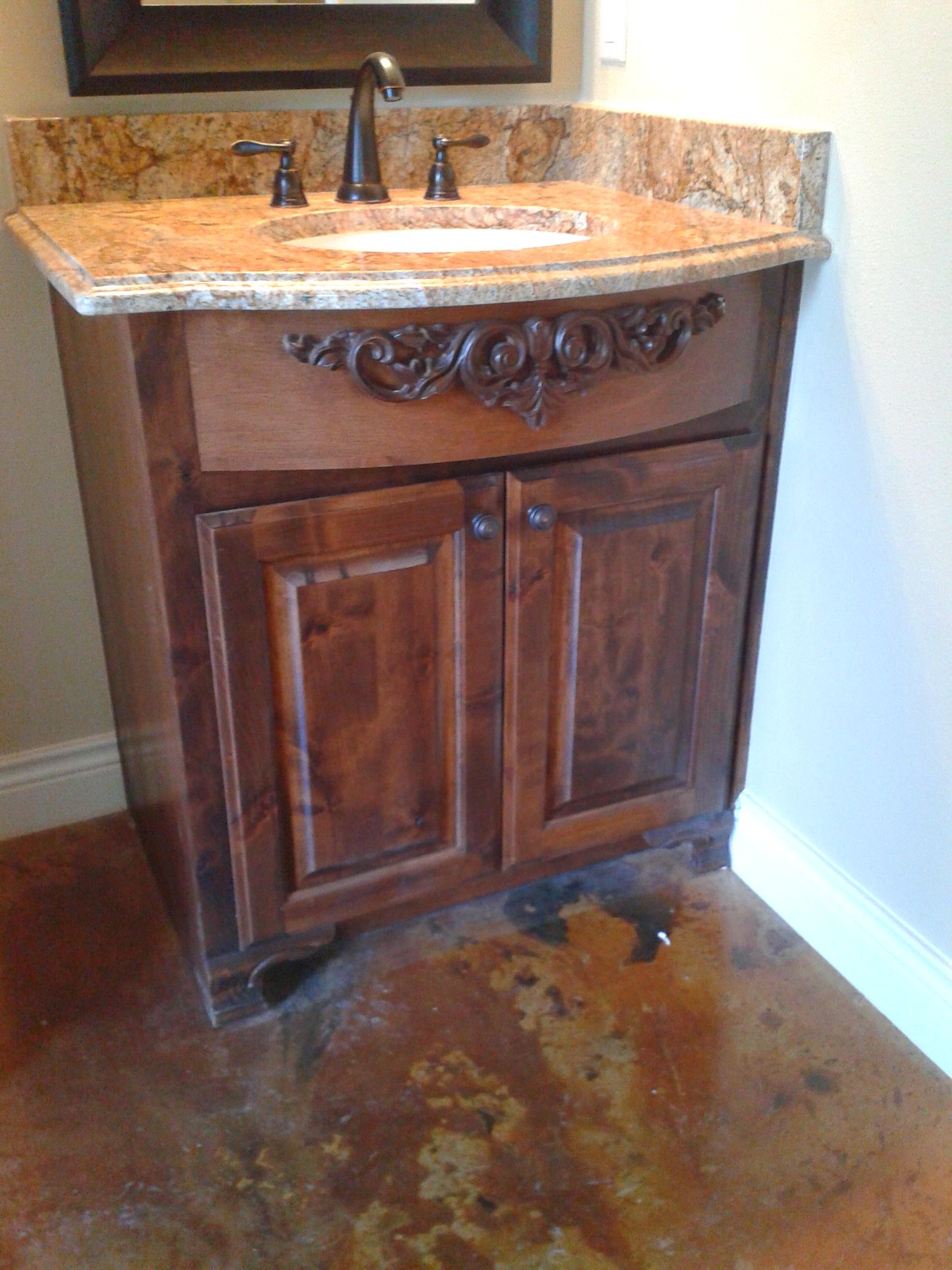 fancy custom bathroom cabinet JB Murphy custom cabinetry