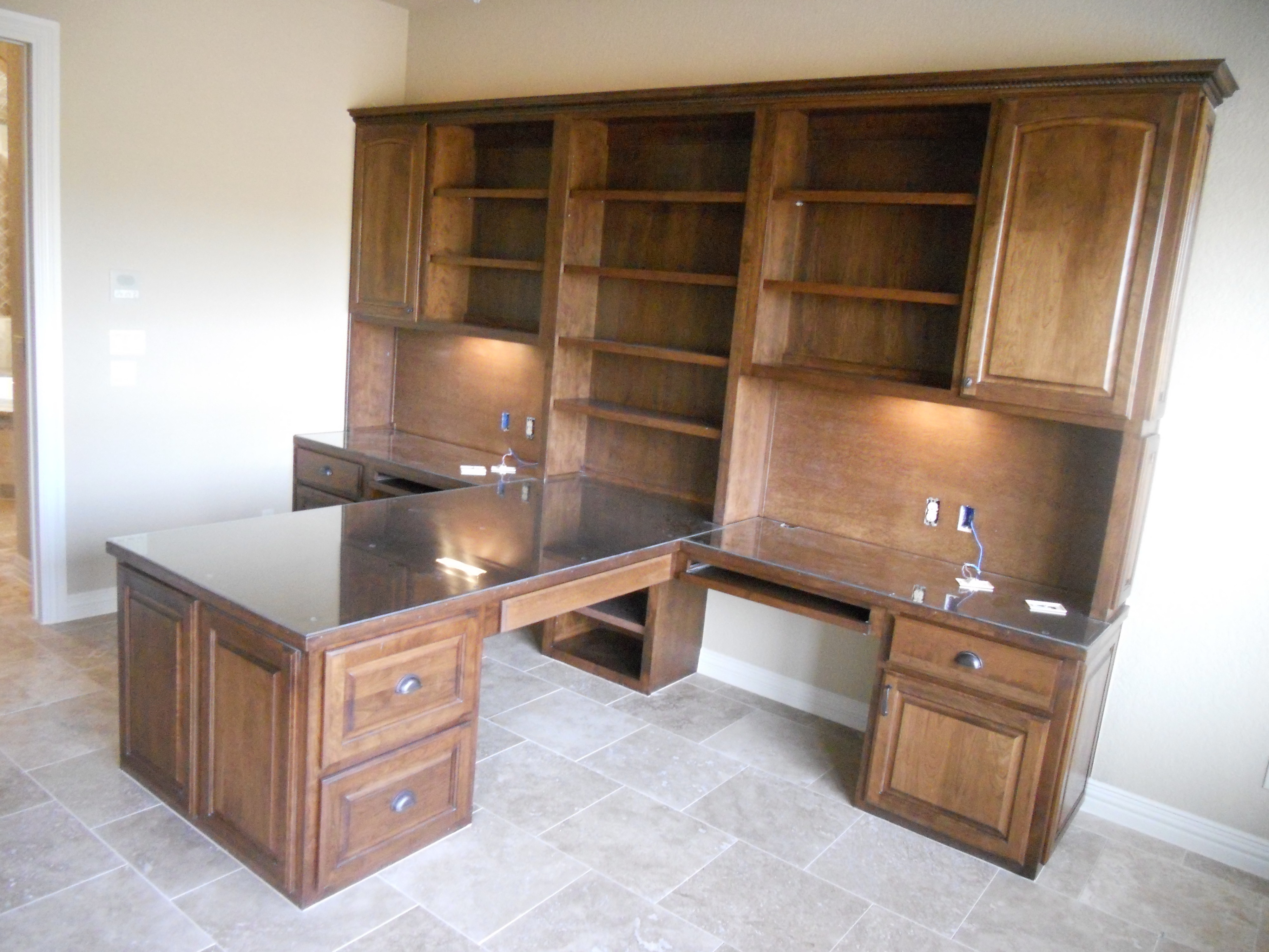 Extra Large Desk For Two Custom Built By JB Murphy Co., Custom Cabinet  Builders