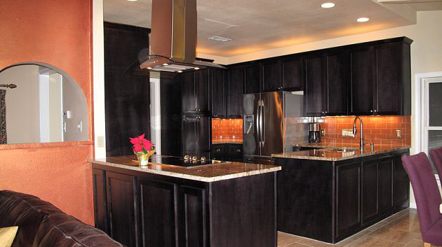 after kitchen renovation showing custom cabinetry by JB Murphy Co.