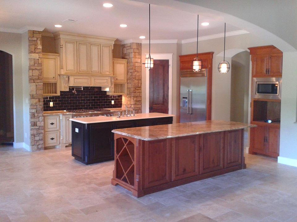 kitchen showing a variety of cabinet door styles by JB Murphy Co