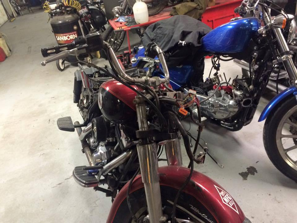 Repair work on motorcycle  in Bettendorf, IA