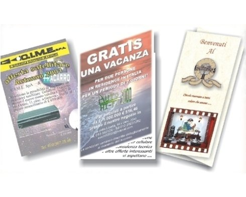 La ditta si occupa di stampa di depliant e brochure