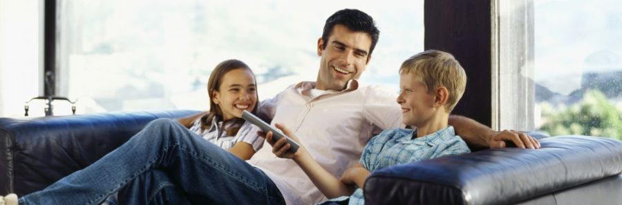 Family enjoys watching TV because of TV setup in Napier