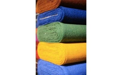 Coloured fabrics by the metre