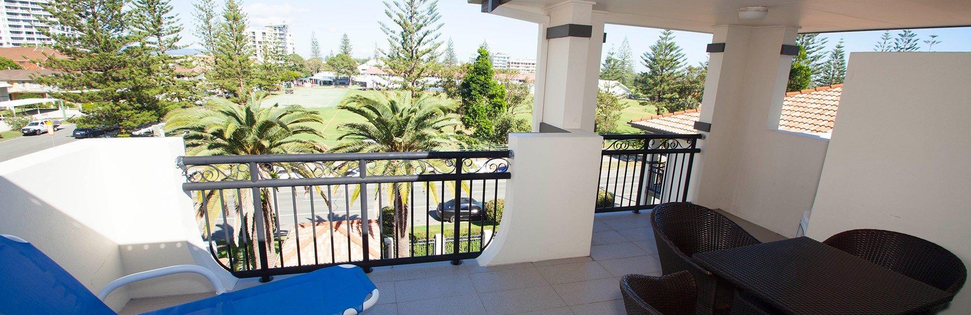 Cheap apartment's balcony in Broadbeach