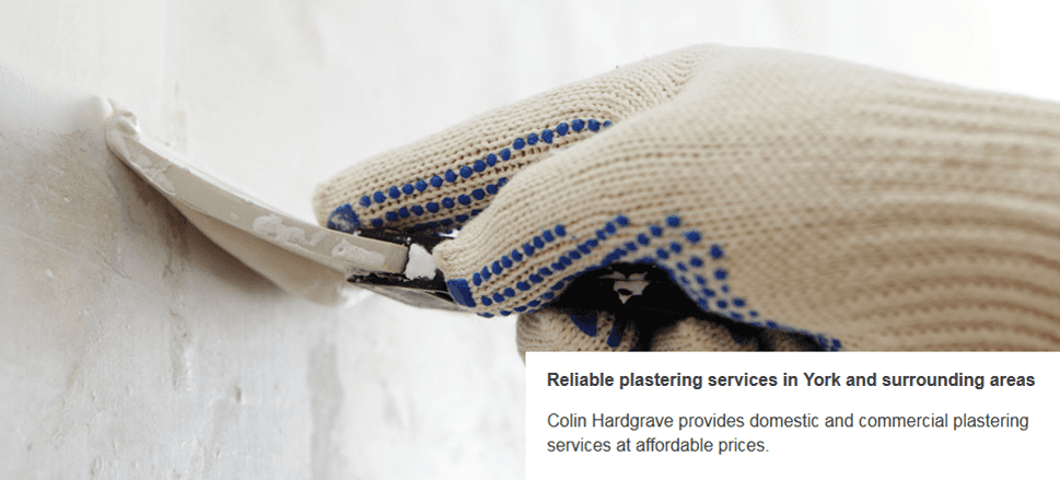 For expert plastering services in York call Colin Hardgrave Plasterers