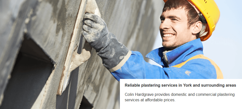 For quality plastering work in York call Colin Hardgrave Plasterers