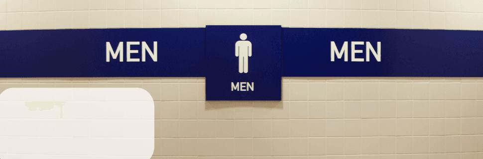 Men toilet sign