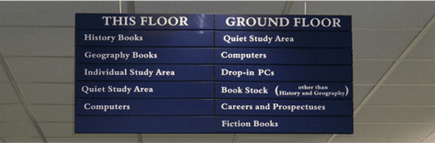 Sign in library