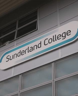 Sunderland College sign