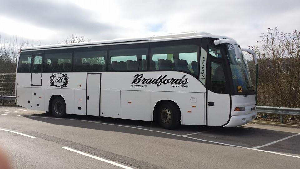 branding on large bus