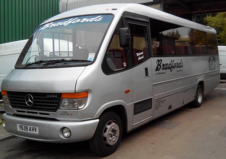 White company minibus