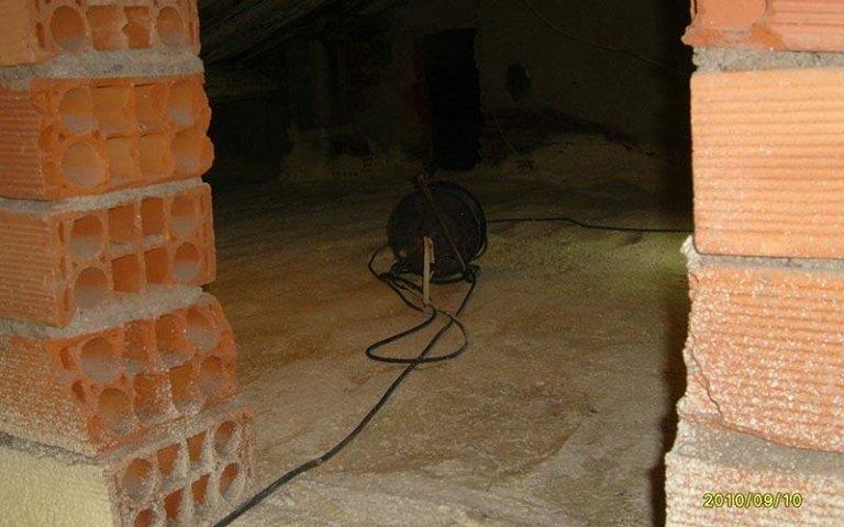 Consolidamento soffitte con schiuma