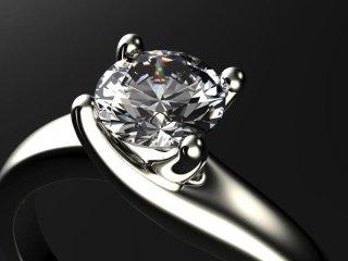 anello con solitario