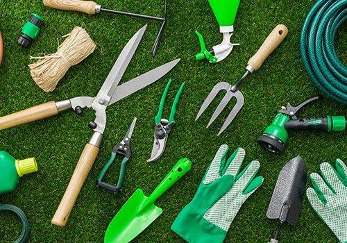 degli attrezzi da giardinaggio