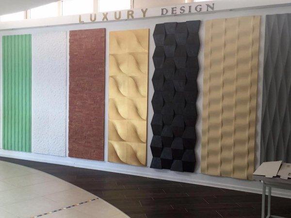 vetrina pareti 3D a marchio LUXURY DESIGN