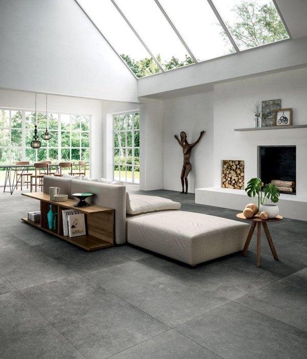 soggiorno moderno con arredamento