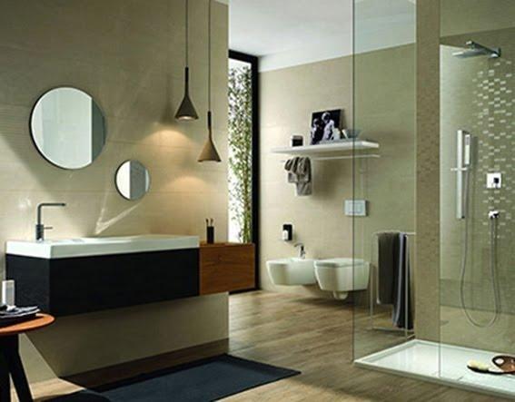 box doccia, lavabo, specchio e arredo bagno