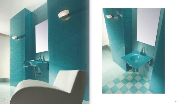 bagno moderno azzurro