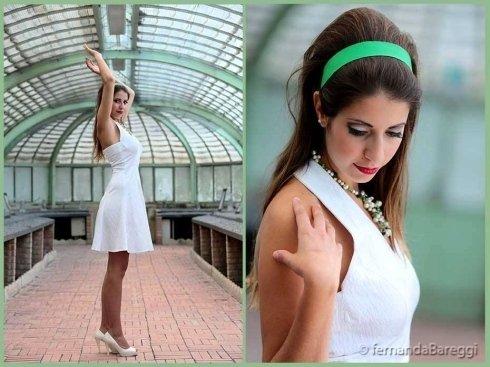 abito bianco corto