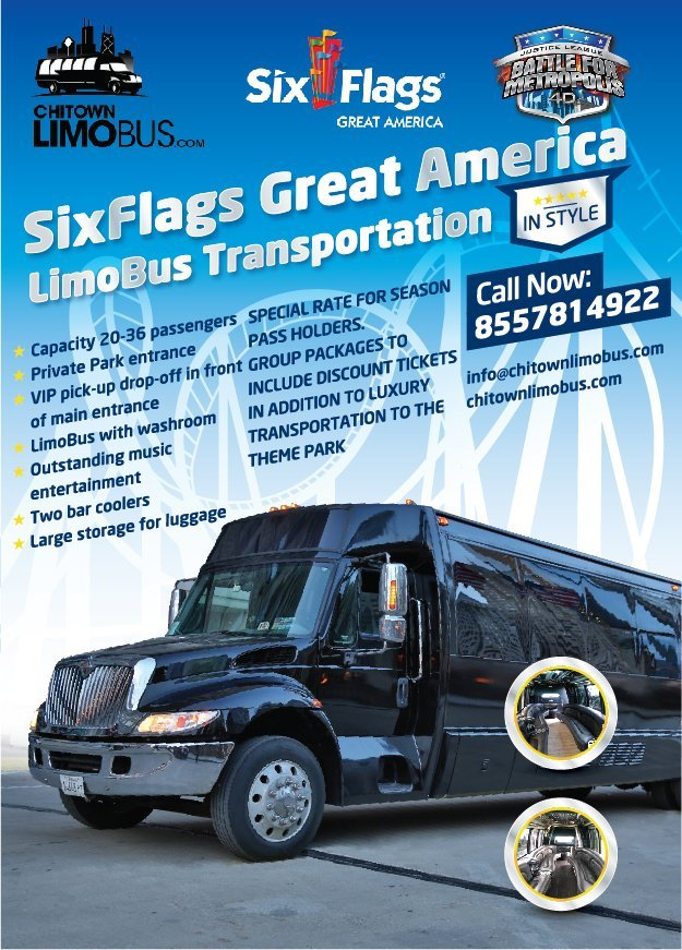 Six Flags Party Bus Service Chicago
