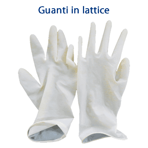 Guanti in lattice