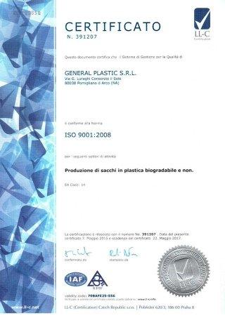 Certifcazione ISO 9001