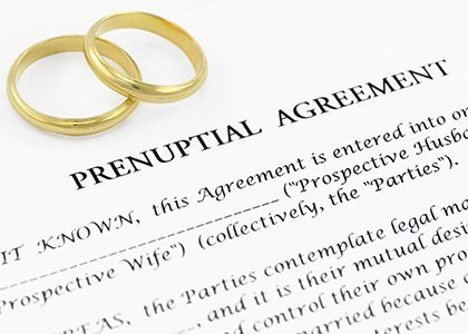 Form for a prenuptial agreement
