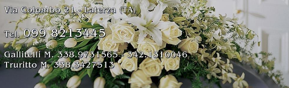 Addobbi floreali funebri e nome e recapiti dell'agenzia