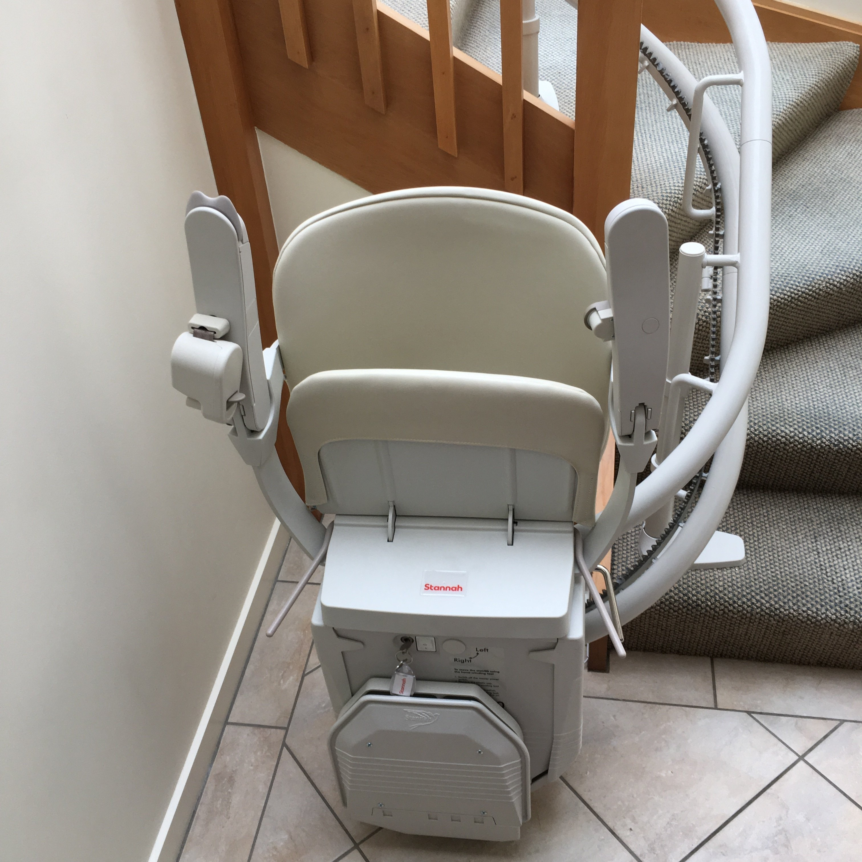 Stairs with stairlift