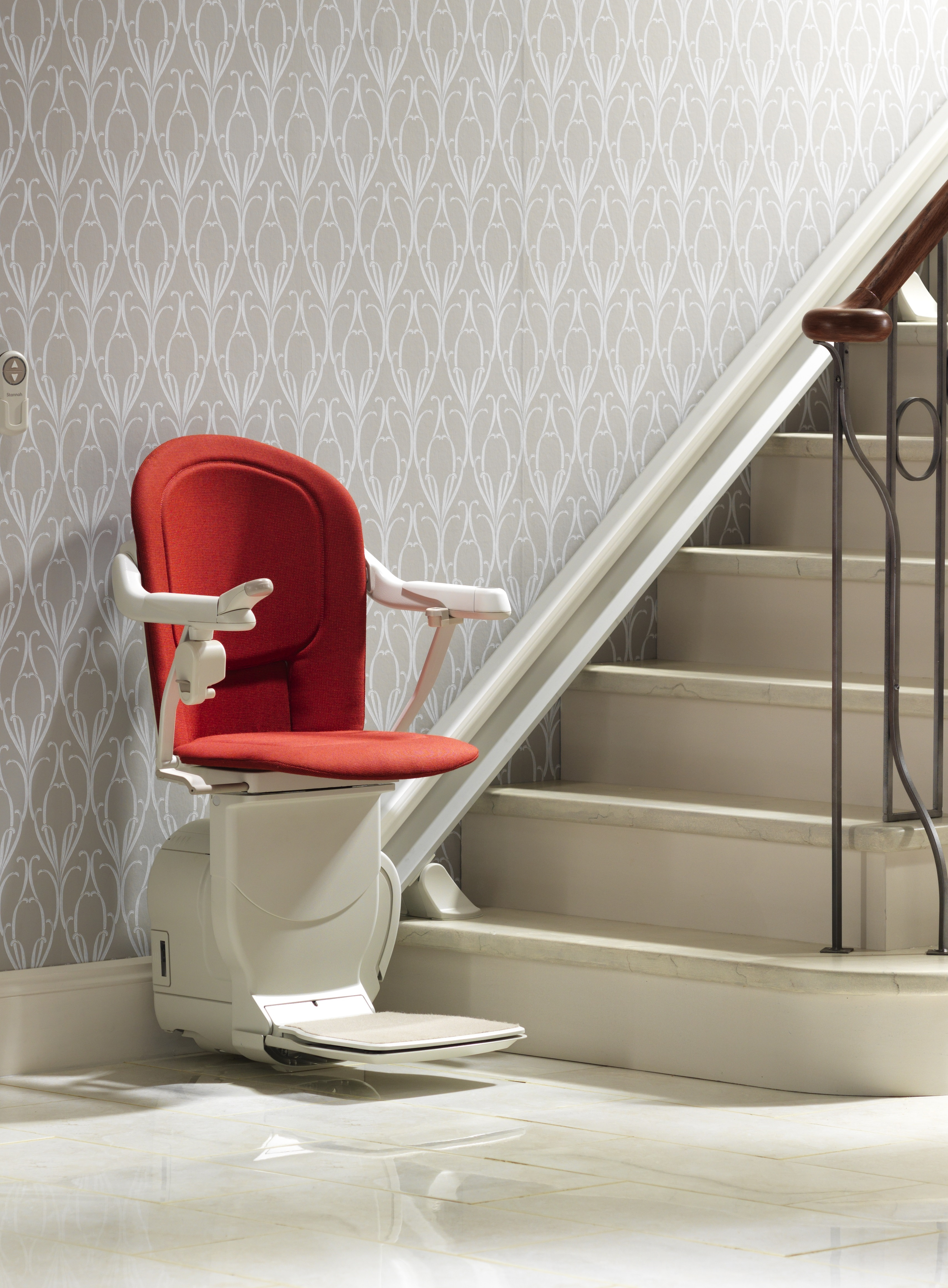 View of a stair lift chair sofia