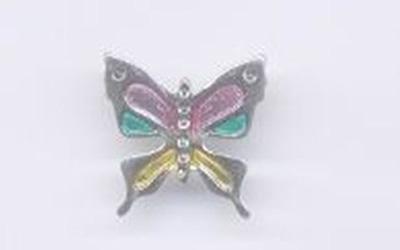 riporto farfalla colorata
