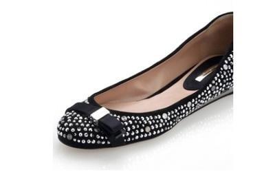 Strass su scarpe ballerina