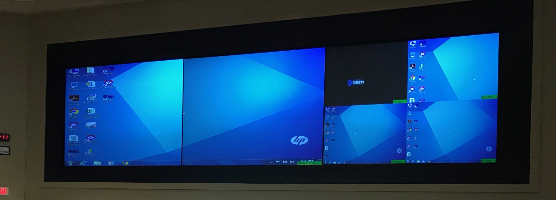 Three Digital Projection Projectors-Rear Screen