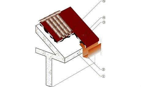 un disegno grafico di un tetto